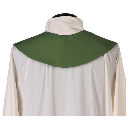 Minister Stole in 100% polyester with cross and ear of wheat 3