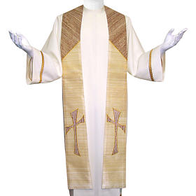 Clergy Stole in 100% pure shantung silk, with cross s1