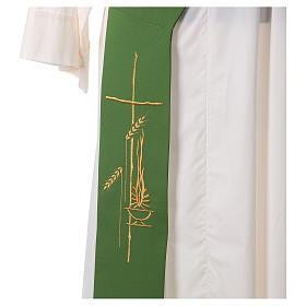 Etole diaconale lampe croix épis 100% polyester s2