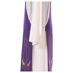 Diaconal stole in polyester with fish embroidery s4