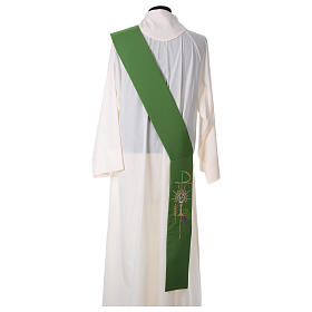 Deacon Stole in polyester with chalice, host and grapes s4