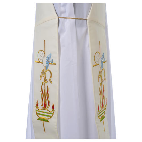 Diaconal stole in 100% polyester, lamp, Alpha and Omega 4