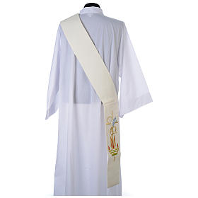 Deacon Stole in 100% polyester, lamp, Alpha and Omega s3