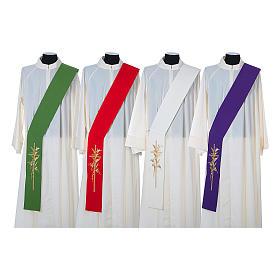 Stuła diakonów krzyż kłosy 100% poliester s1