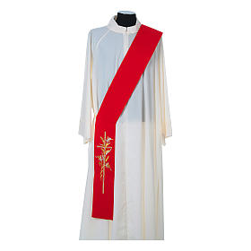 Deacon Stole in 100% polyester, cross and ears of wheat s3