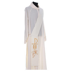 Diaconal stole in polyester with Fish and Loaves and Chi-rho s3