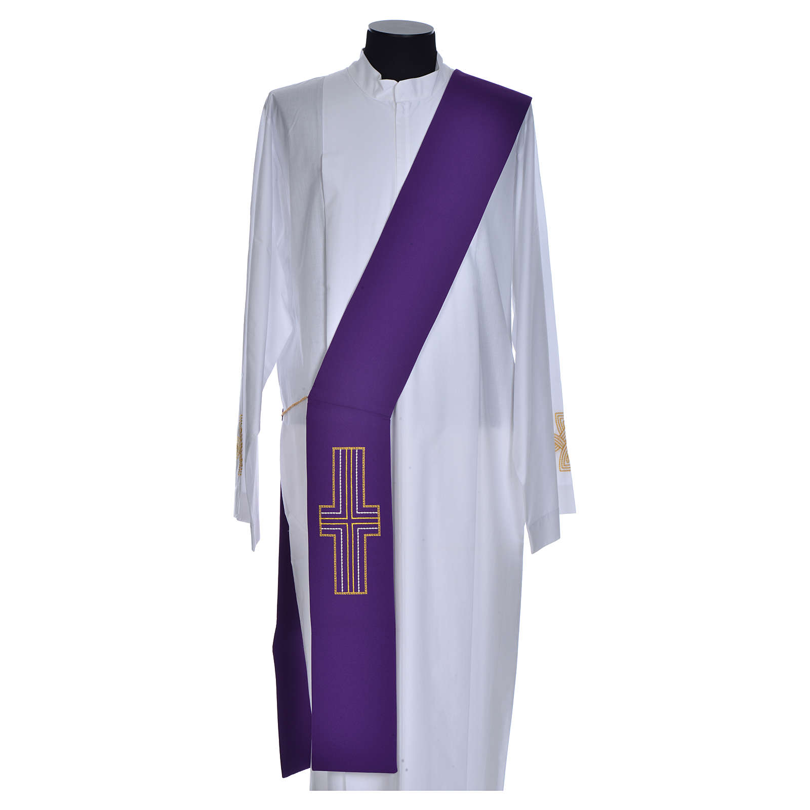 Diaconal stole in polyester with cross 4