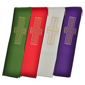Diaconal stole in polyester with cross s7