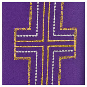 Diaconal stole in polyester with cross s9