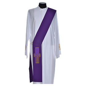 Diaconal stole in polyester with cross s10