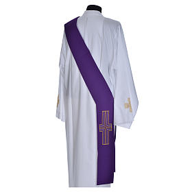 Diaconal stole in polyester with cross s11