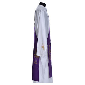 Diaconal stole in polyester with cross s12