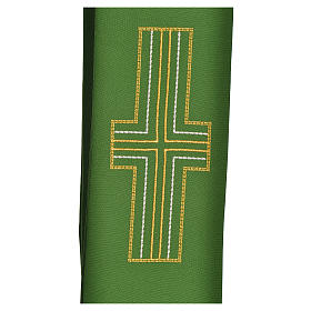 Diaconal stole in polyester with cross s2