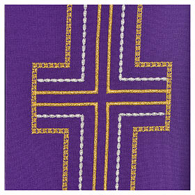 Diaconal stole in polyester with cross s3
