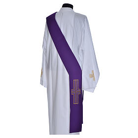 Diaconal stole in polyester with cross s5