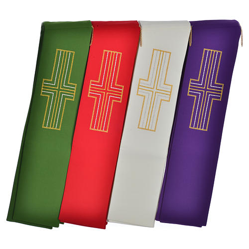 Diaconal stole in polyester with cross 7