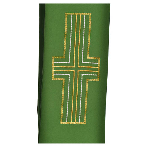 Diaconal stole in polyester with cross 8