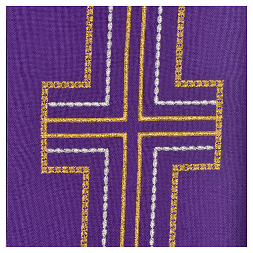 Diaconal stole in polyester with cross 9
