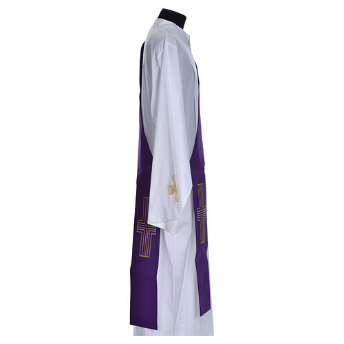 Diaconal stole in polyester with cross 12