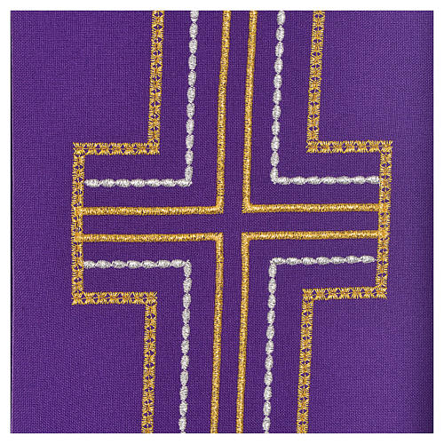 Diaconal stole in polyester with cross 3