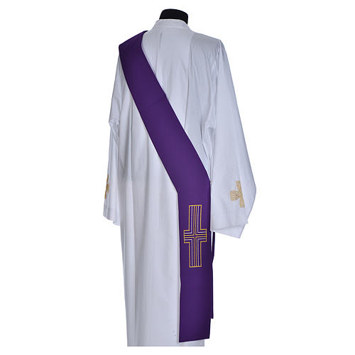 Diaconal stole in polyester with cross 5