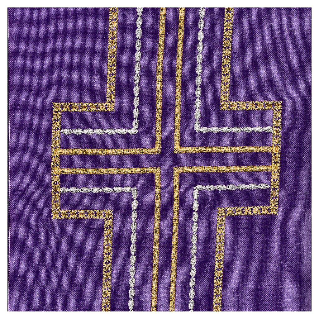 Etole pour diacre 100% polyester croix 4