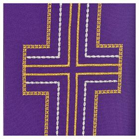 Stuła diakonów krzyż 100% poliester s9