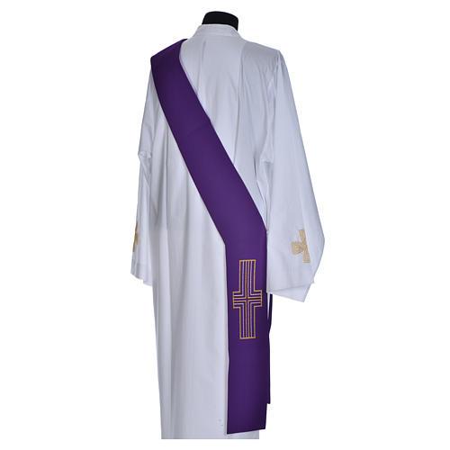Stuła diakonów krzyż 100% poliester 11