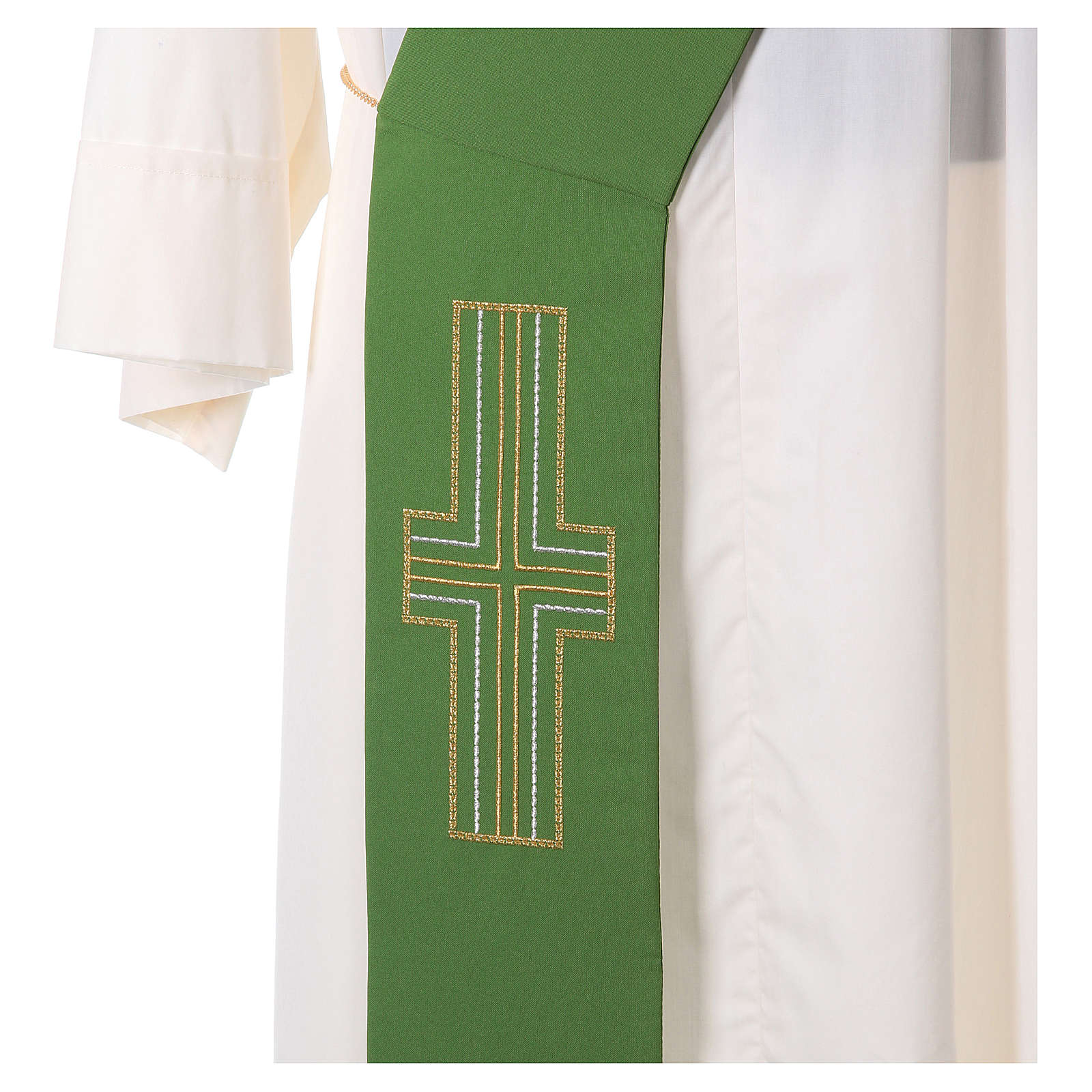 Diaconal stole in polyester with Alpha and Omega 4