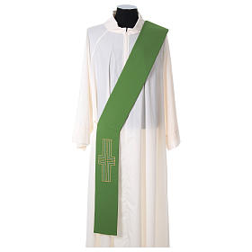 Diaconal stole in polyester with Alpha and Omega s1
