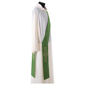 Diaconal stole in polyester with Alpha and Omega s3