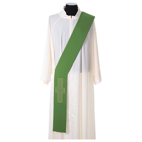 Diaconal stole in polyester with Alpha and Omega 1