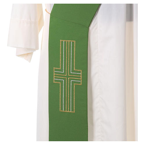 Diaconal stole in polyester with Alpha and Omega 2