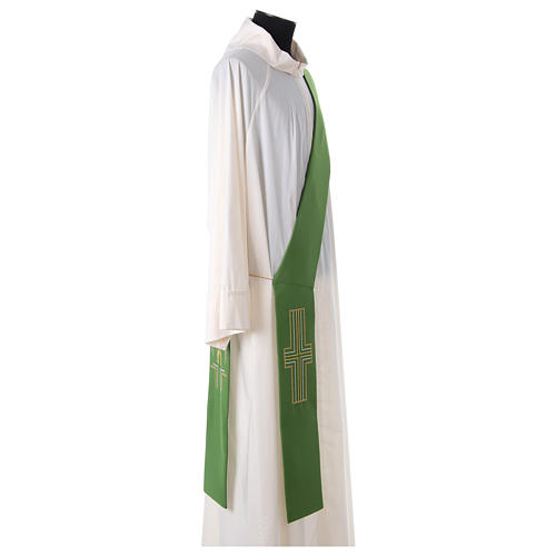 Diaconal stole in polyester with Alpha and Omega 3