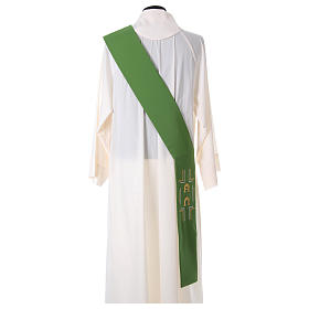 Deacon Stole in polyester with Alpha and Omega s4