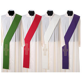Deacon Stole in polyester with Alpha and Omega s1
