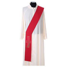 Deacon Stole in polyester with Alpha and Omega s5