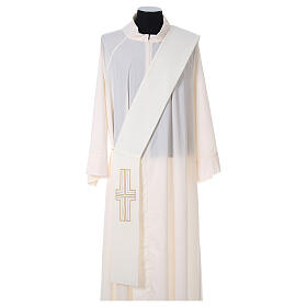 Deacon Stole in polyester with Alpha and Omega s6