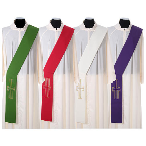 Deacon Stole in polyester with Alpha and Omega 1