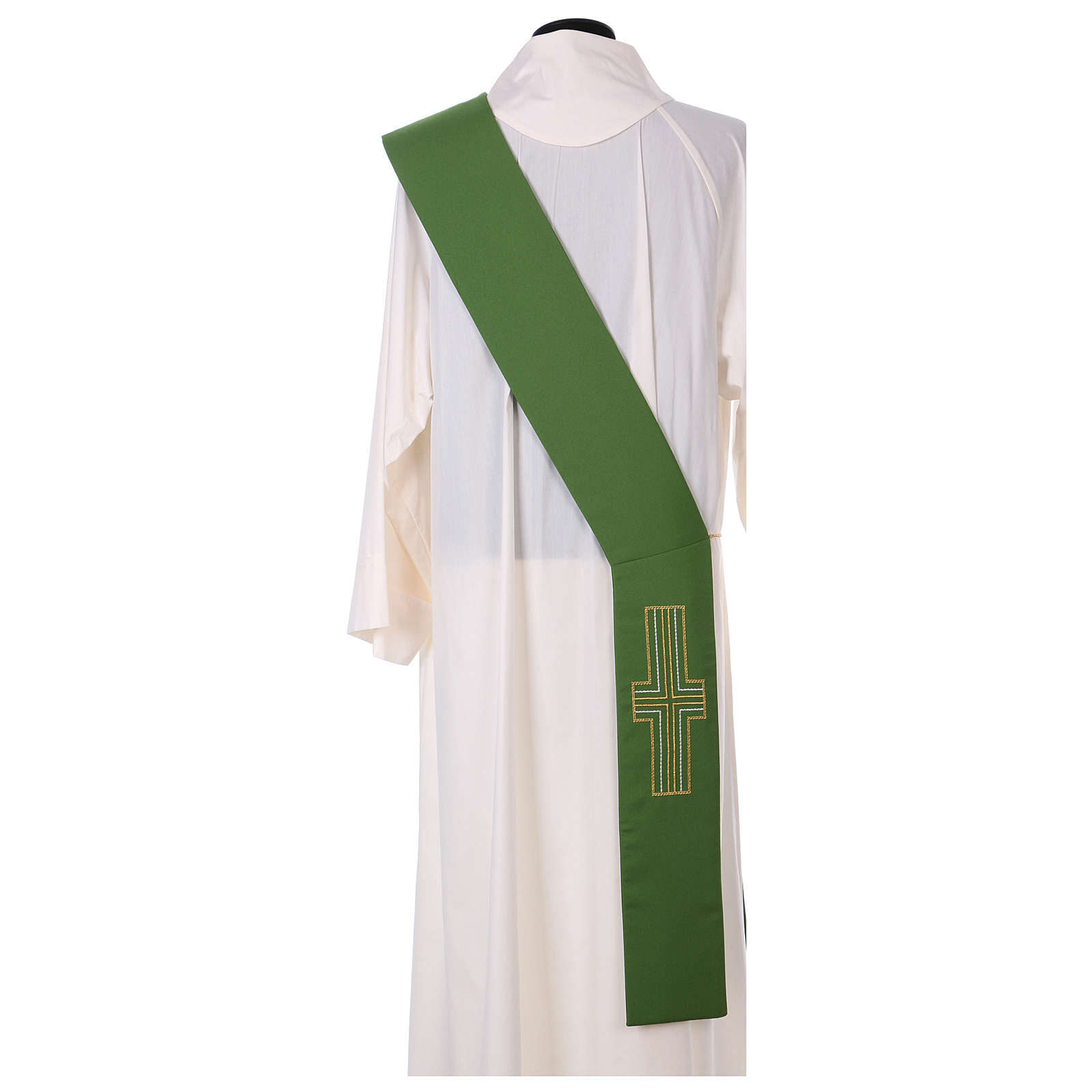 Diaconal stole in polyester with candles embroidery 4