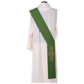 Diaconal stole in polyester with candles embroidery s3