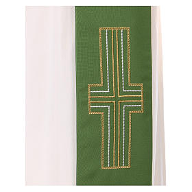 Diaconal stole in polyester with candles embroidery s4