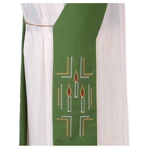 Stola diaconale 100% poliestere ceri 2