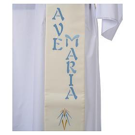 Stola da diacono 100% poliestere simbolo mariano s4
