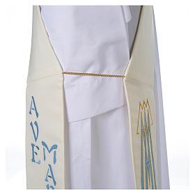 Stola da diacono 100% poliestere simbolo mariano s5