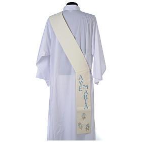 Stola da diacono 100% poliestere simbolo mariano s2