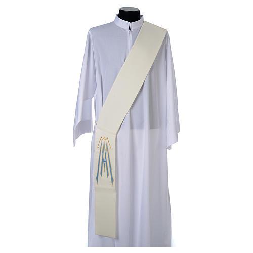 Stola da diacono 100% poliestere simbolo mariano 1