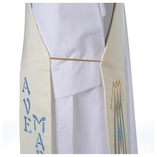 Stola da diacono 100% poliestere simbolo mariano 5