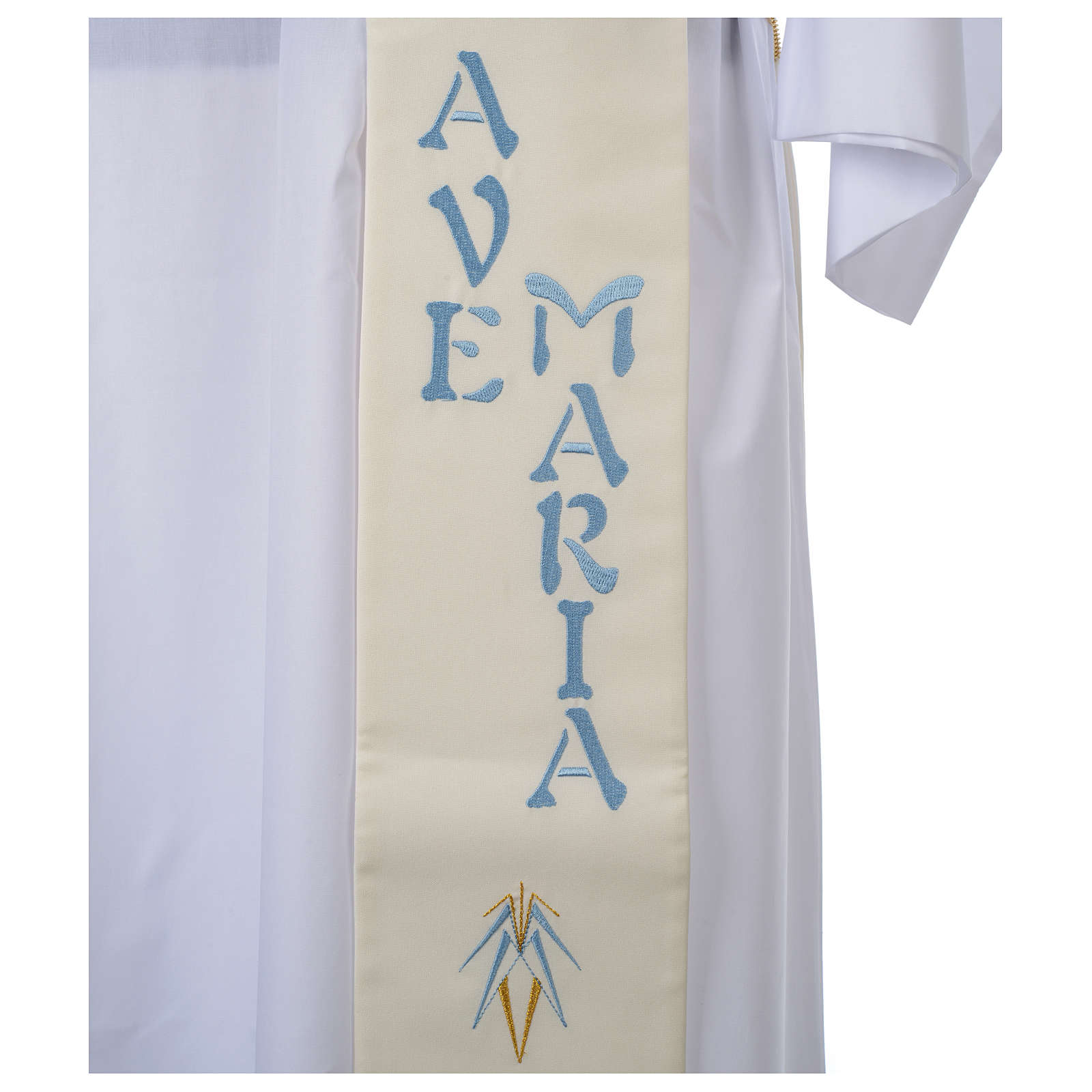 Stuła dla diakona symbol maryjny 100% poliester 4