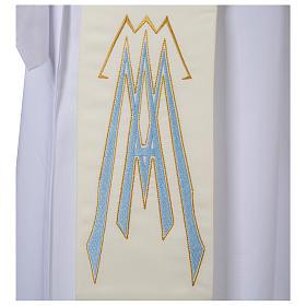 Stuła dla diakona symbol maryjny 100% poliester s3